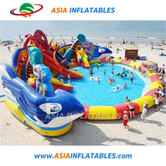 Inflatabel Water Sports Park with Slide for Pool pictures & photos