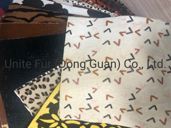 Horse Hair Leopard Pattern Printing Hair Calf Genuine Leather for Shoes, Bags and Furnitures