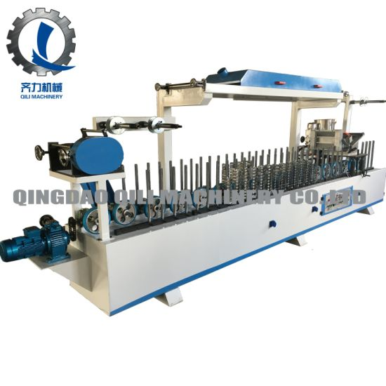 Automatic Wood Veneer MDF Profile Wrapping Laminating Machine