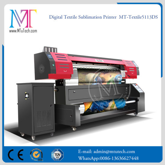 China Manufacturer Digital Sublimation Printing Machine with Double 5113 Printheads
