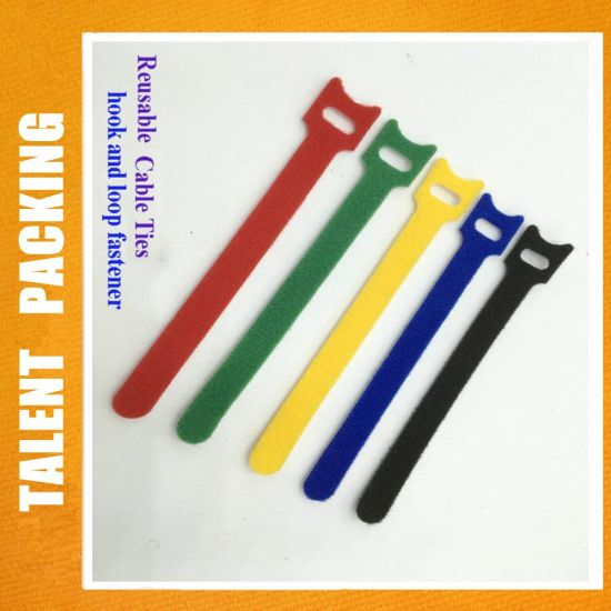 853c09264333 China Releasable Nylon Hook Loop Strap Fastener Cable Tie Wrap ...