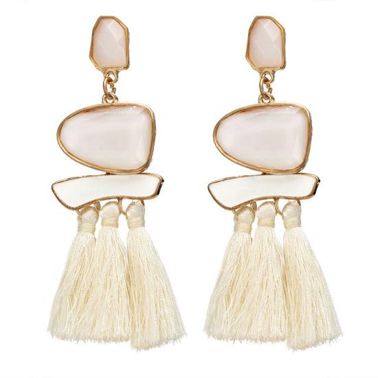 ce9e0859583ea0 Fashion Vintage Crystal Long Tassel Earrings for Women Wedding Luxury Bohemia  Rhinestone Drop Earring Jewelry Gift Wholesale
