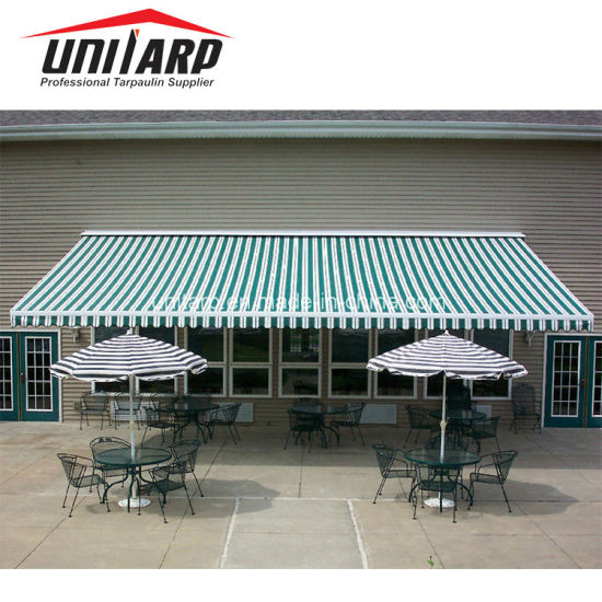 High Quality Awning Striped PVC Coated Tarpaulin pictures & photos