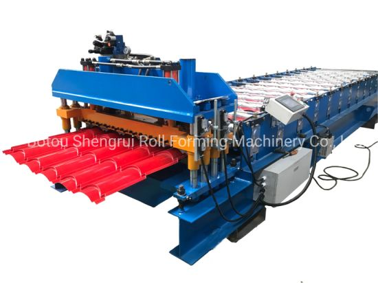 Metal Step Tile /Q Tile /Glazed Tile Roofing Sheets Roll Forming Machine