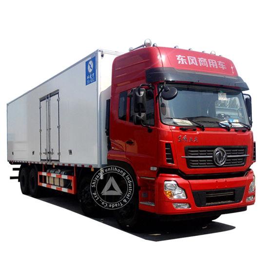 Dongfeng 8X4 420HP 59.2m3 (59.2CBM) Van 26 Ton (26t) Heavy Duty Complicated Road Condition Lightweight Design High Roof Luxury Model Box Van Cargo Truck