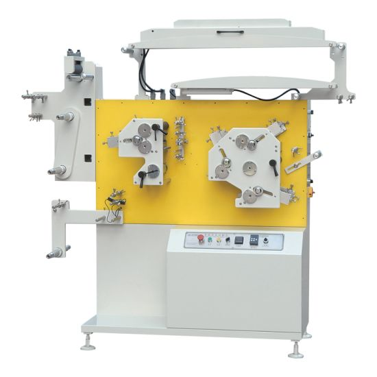 Jr-1531 Flex Printing Machine Price in India, Letterpress Satin Ribbon Woven Fabric Label Flexo Printing Machine for Clothing Wash Care Labels Nylon 3+1 Colors