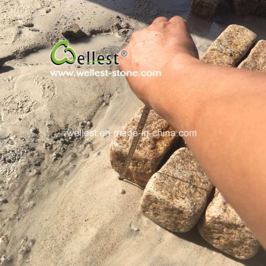 Aged Look Tumble Rustic Yellow Granite Paver Stone