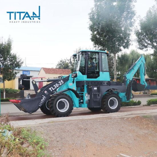 CE OEM ISO SGS 2.5t 4WD Hydraulic Compact Front End Towable 2500kg Backhoe Loaders for Sale