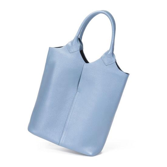 New Design Three Colors Soft Genuine Leather Women Tote Lash Hand Bag