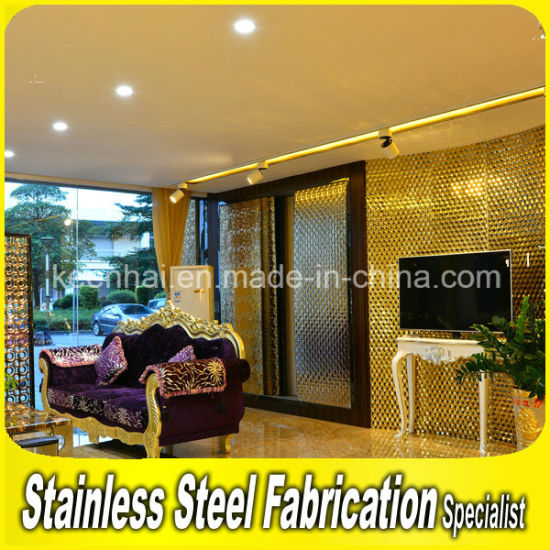China Modern Decorative Living Room Stainless Steel Wall Panels ...