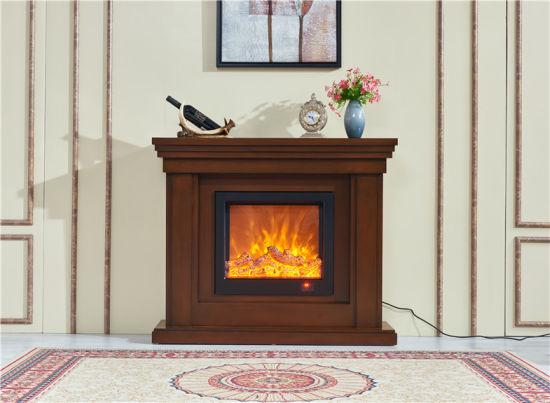 China Modern Furniture Wood Fireplace Mantel Surround Electric