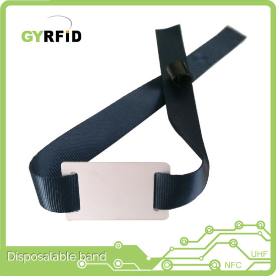 125kHz ID Wristband NFC Wrist Band for Event (WRA13) pictures & photos