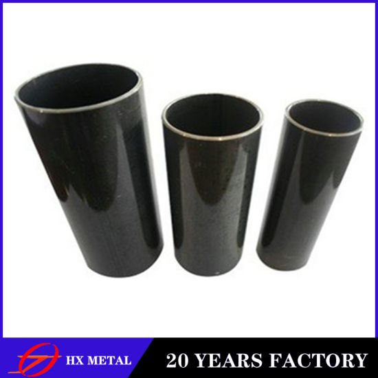 Chinese Manufacturer /ASTM A53 A106 Standard/ ERW Black Carbon Round Section Mild Steel Pipe
