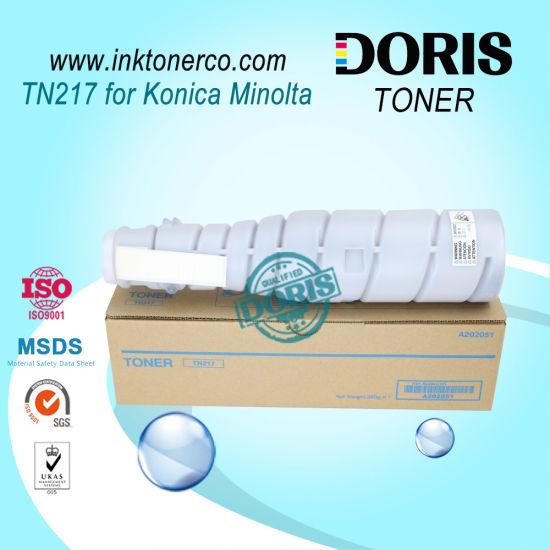 Tn217 Copier Toner Japan Mitsubishi Powder for Konica Minolta Bizhub 223 / 283 / 7828