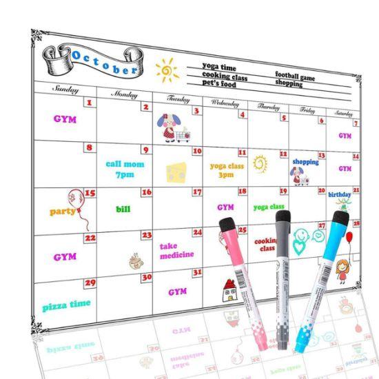 Custom Fridge Magnet Magnetic Chalkboard Planner Calendar