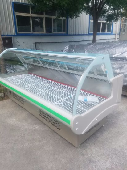 2.0m Large Circular Arc Glass Display Chiller for Supermarket Use pictures & photos