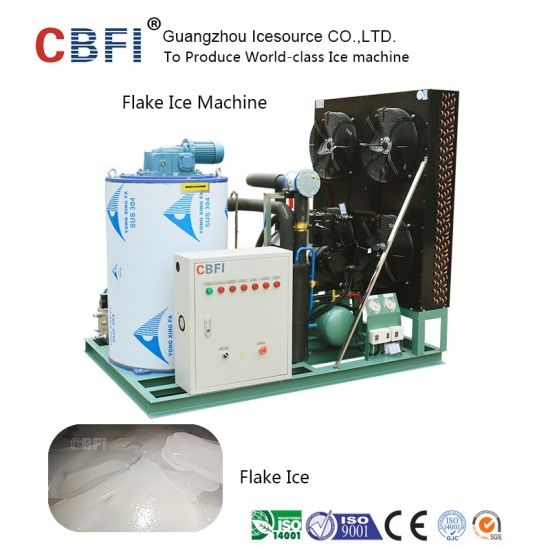 Water Cooled Commercial Flake Icee Machine with 1 Ton ~ 60 Tons / Day pictures & photos