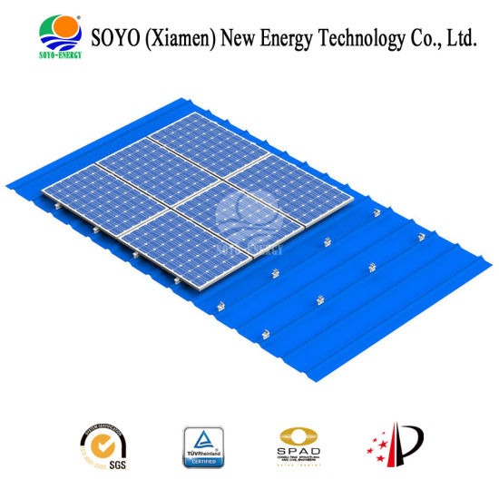 Soyo Railless Design Solar Rack for Steel Roof Mounting pictures & photos
