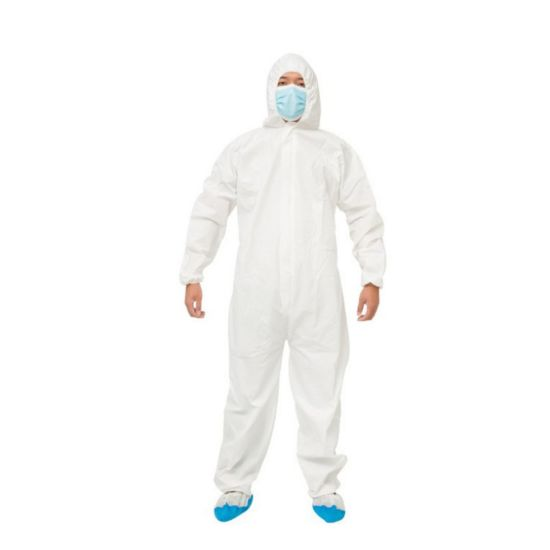 Sf Nonwoven Coverall 40GSM Disposable Cleanroom Suit Waterproof