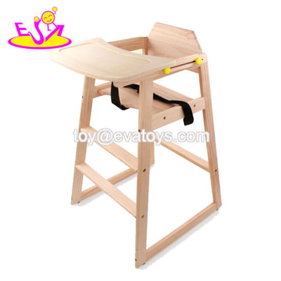 High Quality Wooden Baby High Chair with Comfort-Fit W08f048 pictures & photos
