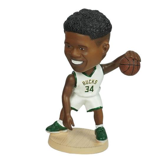12 Cm Famous NBA Superstar Baller Giannis Antetokounmpo Car Dashboard Bobblehead for Gift and Souvenir