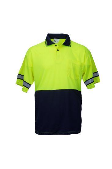 En ISO 20471 Reflective Polo Shirt