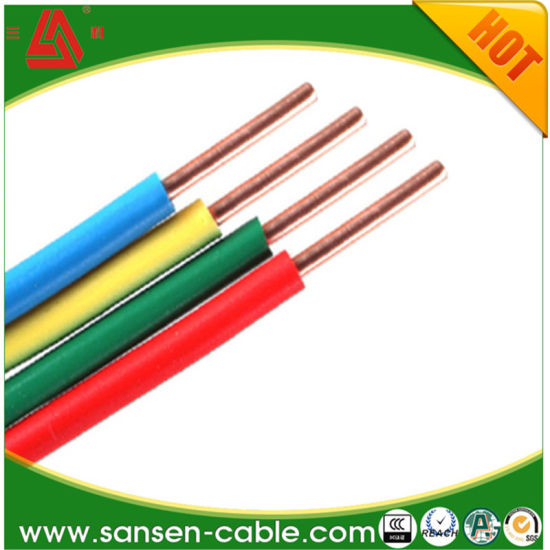 china 450 750v pvc insulated copper conductor electric wire cable rh sansen cable en made in china com