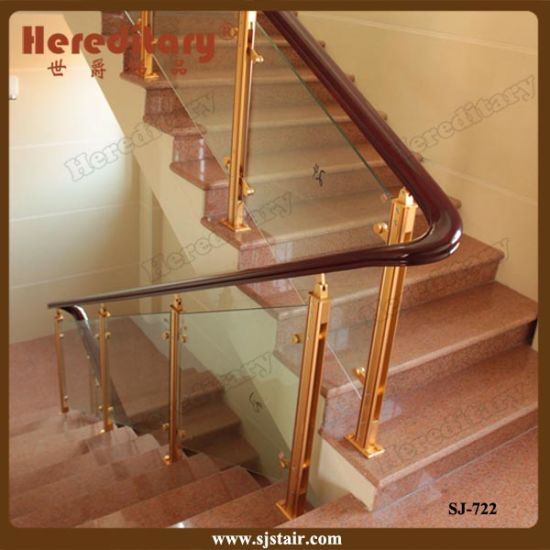 Simple Stainless Steel Glass Stair Railing Glass Balustrade For Residential