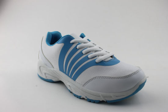 Women Sports Shoes PU Injection Sports Shoes PVC Outsole (SNS-01028) pictures & photos