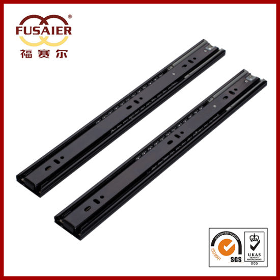 45mm Black Paint Soft-Closing 3 Knots Drawer Runners pictures & photos