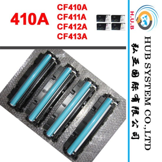 OEM Color Toner Cartridge for HP 410A (CF410/CF411A/ CF412A/ CF413A) pictures & photos