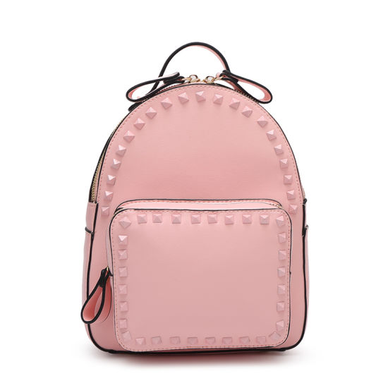 0fce09d228 China 2017 Newest Stud Rivet PU Leather Backpack for Women - China ...