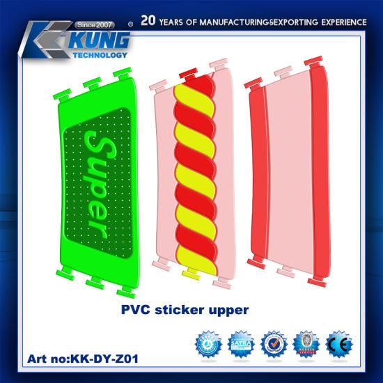 Hot Selling PVC Sticker Upper for Making Slipper