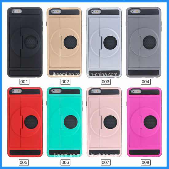 Hot Selling Kickstand TPU PC Plastic Mobile Phone Cover Case pictures & photos