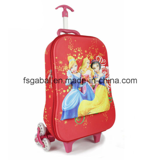 Cute 3D Embossed Cartoon EVA Pupil Child Trolley Bag pictures & photos