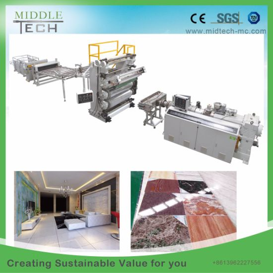 China Wholesale Price Plastic PVC Artificial Faux Marble Sheet/Board/Profile Extrusion/Extruder Making Machinery