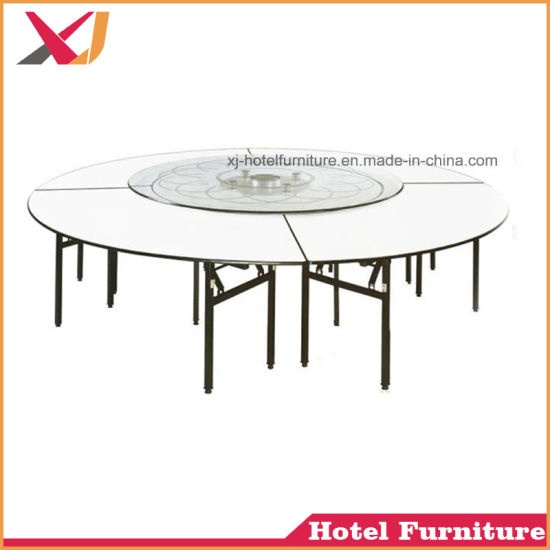 Wholesale Cheap Folding 6FT Round PVC Banquet Table