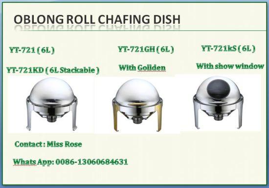 Manufacturer Restaurant Round Roll Chafing Dish