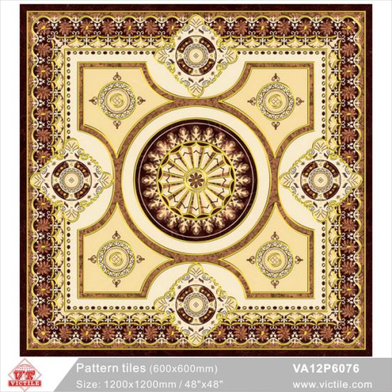 Art Decoration Material Pattern Flower Carpet Floor Tile (VA12P6078, 1200X1200mm/48′′x48′′) pictures & photos