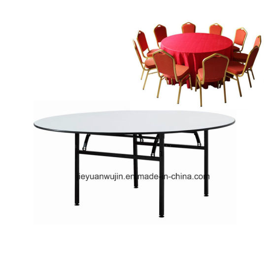china hotel restaurant used folding round banquet table jy t01