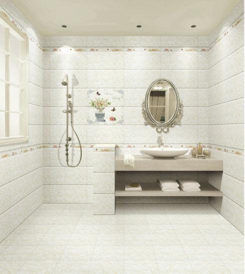 30X60 White Marble Look Bathroom Wall Ceramic Tile For Interior Decoration