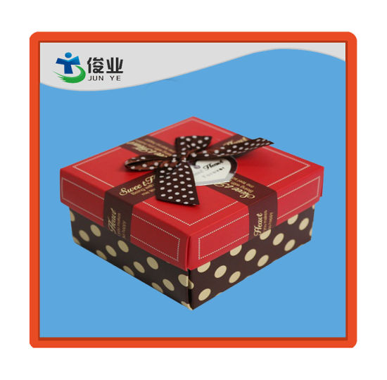 Red and Black Sweet Food Paper Color Box