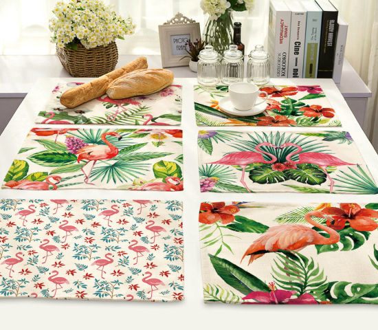 Table Napkins Flamingo Printing Dinner Table Napkins Tea Coffee Towel  Restaurant Plates Decor Reusable Placemat