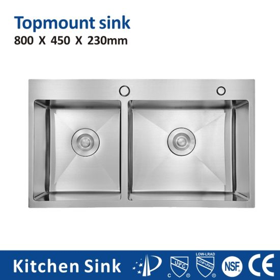 South Africa R10 2 3mm 5040 Aquacubic Above Counter 1 2 3 Basin Double Bowl Sink Blcak Manual for Free Standing Kitchen Sink