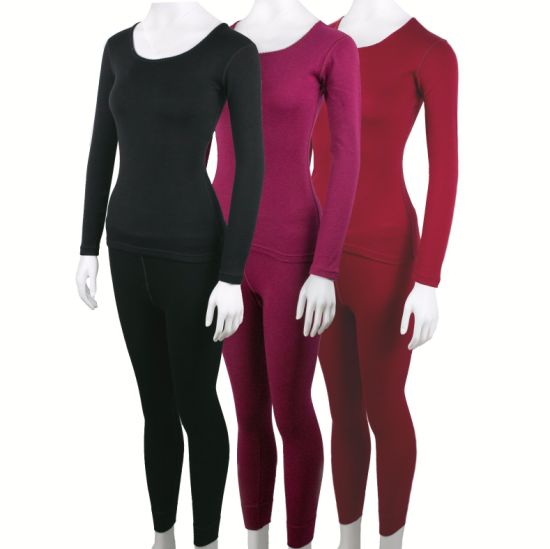 Merino Wool Women's Long Sleeve Thermal Underwear for Winter