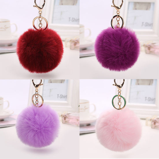 Hand Made Rabbit Fur Stripsfur Pompons for Bag pictures & photos