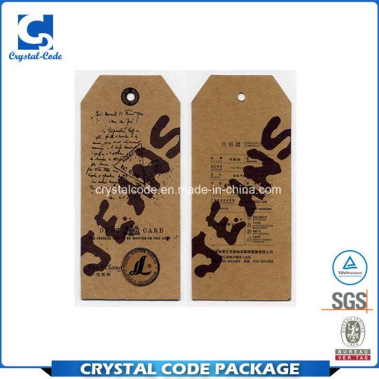 Custom Design Waterproof String Hang Tag for Garment