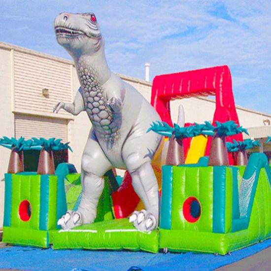 25FT PVC Giant Dinosaur Air Filled Inflatable Slide for Sale