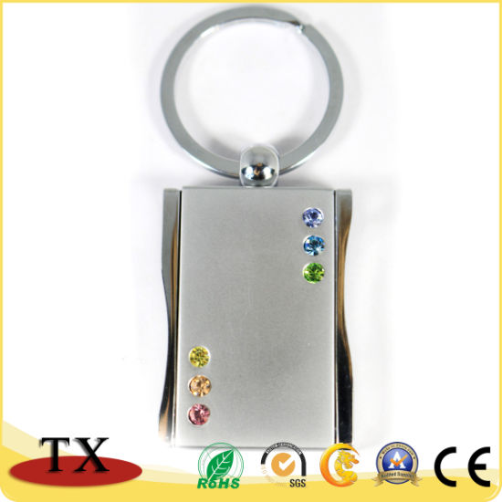 Charming Diamond-Bordered Metal Zinc Alloy Photo Frame Key Chain pictures & photos