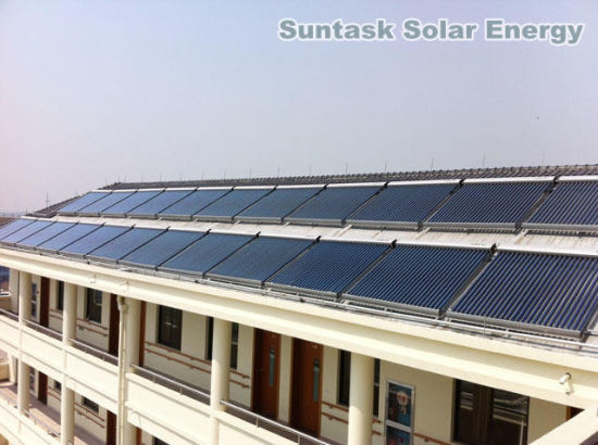 Apartment Building Solar Energy Hot Water Heating System